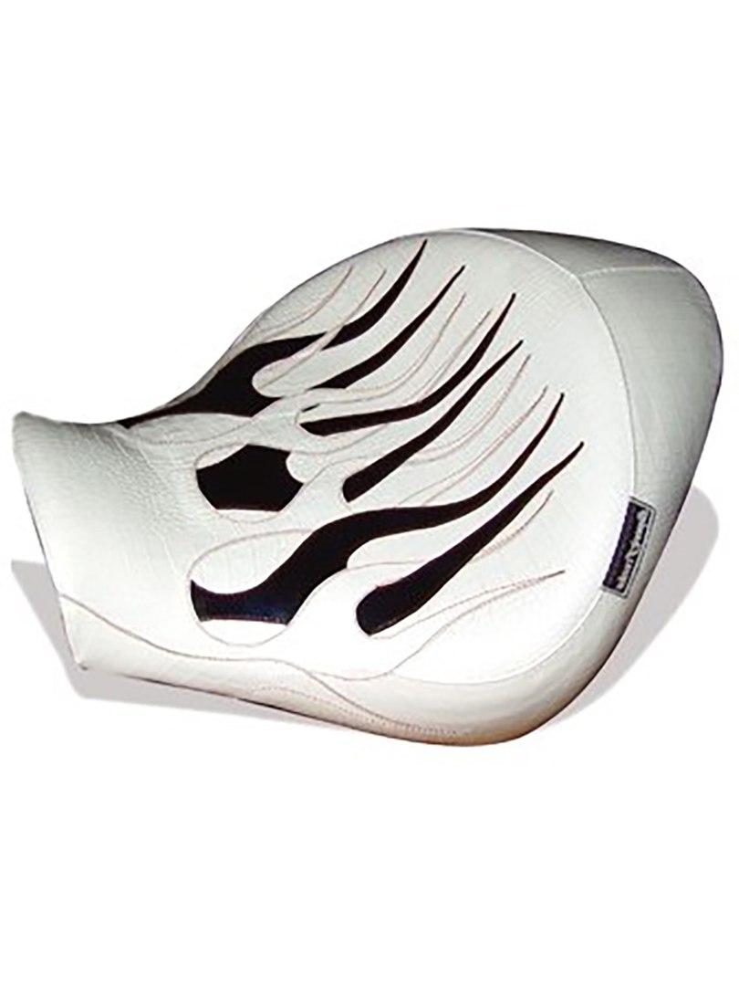 Чёрно-белое сиденье для мотоцикла (мотоседло) с огнями